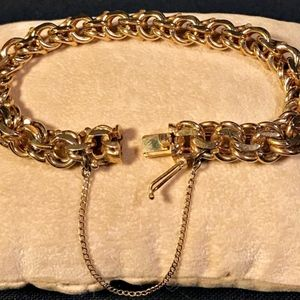 Jewelry - 14k solid gold chain link charm bracelet